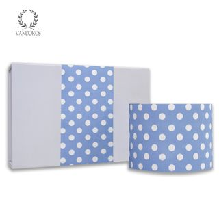 LARGE SPOTS UNCOATED SKINNY WRAP FRENCH BLUE/WHITE 80gsm 10cmX60M