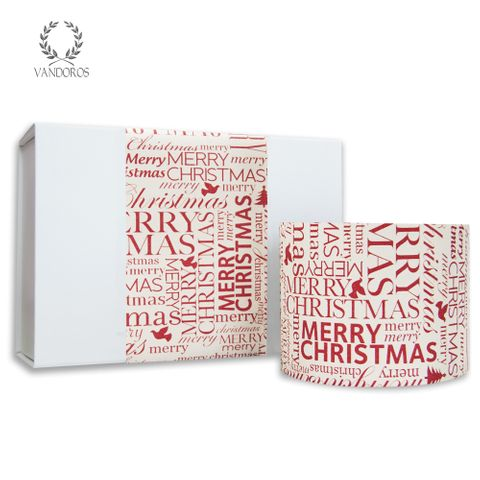 SKINNY WRAP MERRY CHRISTMAS UNCOATED RED/WHITE 80gsm