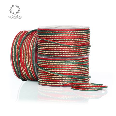 SANTA CORD RED/GREEN/GOLD