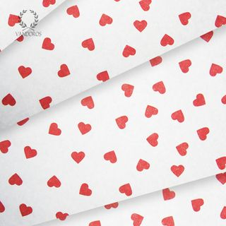 CONTEMPORY HEARTS SATIN WRAP PRINT TISSUE PAPER 240 SHEETS