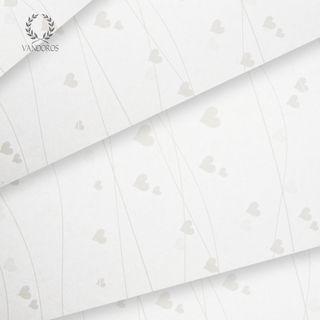 HEARTS PRINT WHITE/WHITE TISSUE PAPER 500 SHEETS