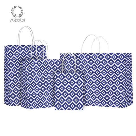 TWISTED HANDLE BAG HYDRA AEGEAN BLUE
