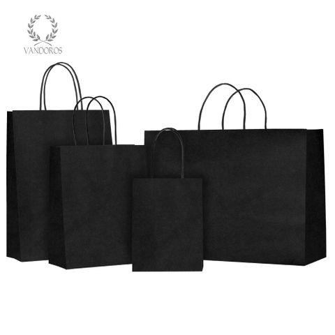 TWISTED HANDLE BAG BLACK