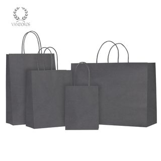 TWISTED HANDLE BAG GRAPHITE 160X200X80mm