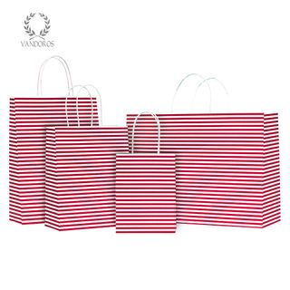 TWISTED HANDLE BAG CANDY RED 160X200X80mm
