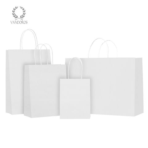 TWISTED HANDLE BAG WHITE
