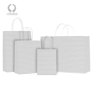 TWISTED HANDLE BAG CANDY SILVER 160X200X80mm
