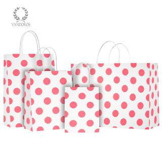 TWISTED HANDLE BAG PEARLS WHITE/NEON PINK 160X200X80mm