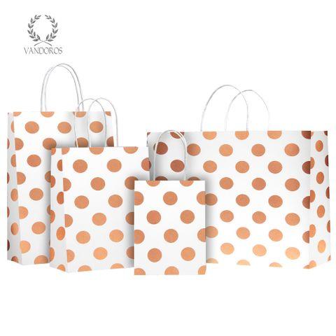 TWISTED HANDLE BAG PEARLS QUARTZ/COPPER