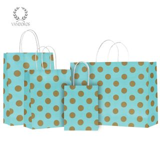 TWISTED HANDLE BAG PEARLS TURQUOISE/GOLD 160X200X80mm