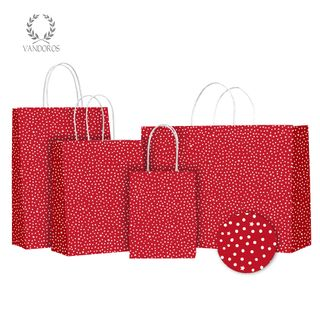 TWISTED HANDLE BAG STARRY NIGHT RED/WHITE 160X200X80mm