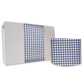 SKINNY WRAP UNCOATED GINGHAM NAVY 80gsm 10cmX60M