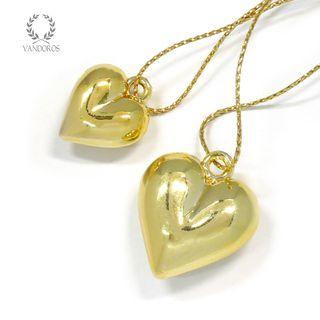 GOLD PLAIN HEART/20mm GOLD PLAIN HEART