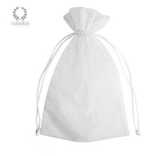 ORGANZA BAG WHITE D - 8cmX8cmX30cm
