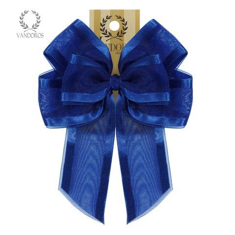 BOW - SATIN EDGE BOW ROYAL BLUE