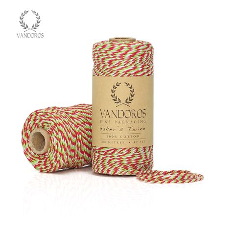 BAKER'S TWINE GREEN/RED/WHITE