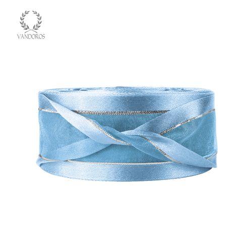AN082-B006 LT.BLUE SATIN FINE SILVER