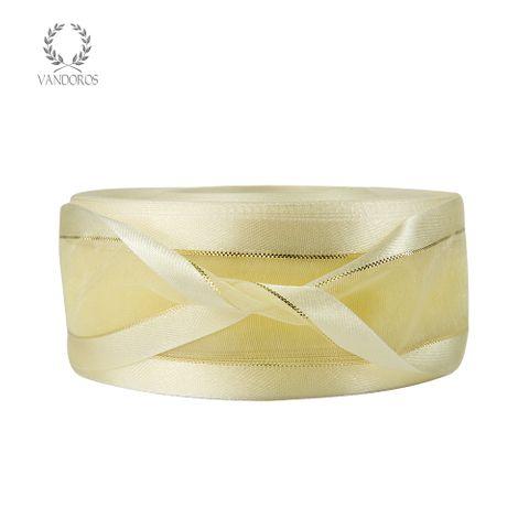 AN056-A108 IVORY SATIN FINE GOLD