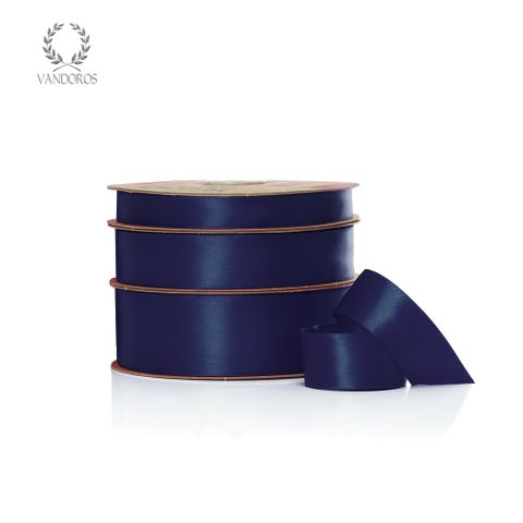 SINGLE FACED SATIN NAVY