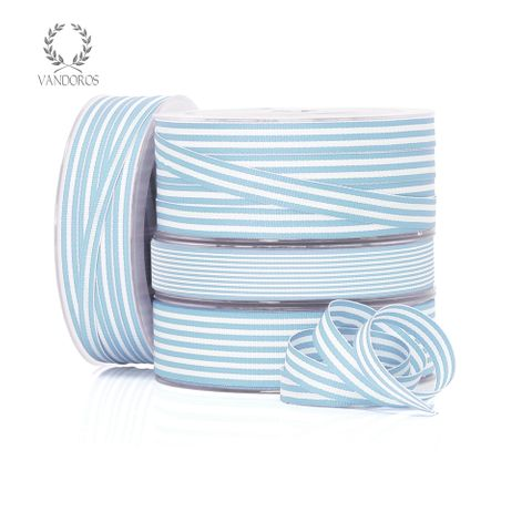 CANDY GROSGRAIN LIGHT BLUE/WHITE