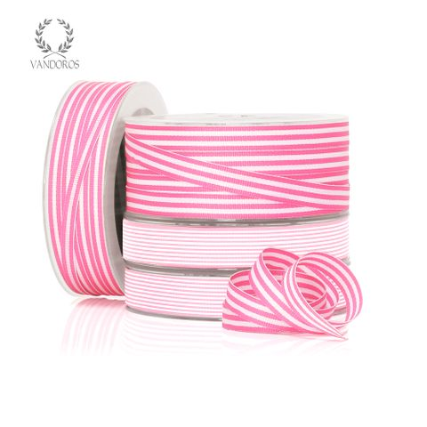 CANDY GROSGRAIN LIGHT PINK/WHITE