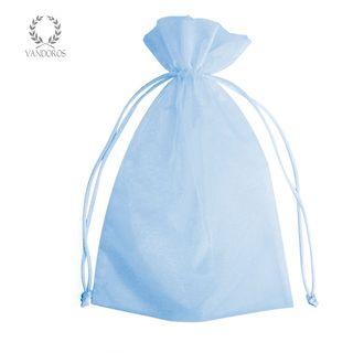 ORGANZA BAG LIGHT BLUE C - 15cmX24cm