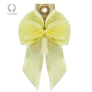 BOW - SATIN EDGE BOW LEMON 38mm