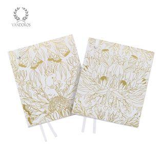 BOTANICA CARD TAG QUARTZ/GOLD PACK OF 4