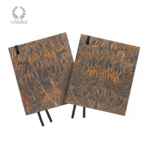 BOTANICA CARD TAG GRAPHITE/COPPER PACK OF 4