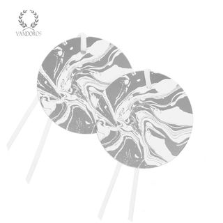 MARBLED SILVER GIFT TAG - PACK OF 6