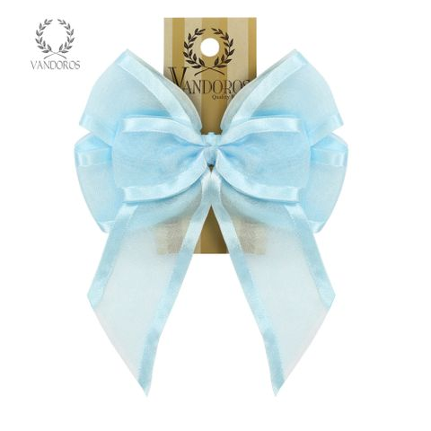 BOW - SATIN EDGE BOW BABY BLUE