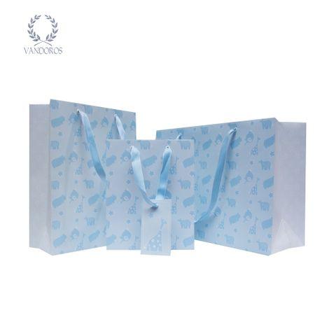 BABY ANIMALS BAG BLUE/WHITE