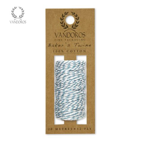 BAKER'S TWINE 20M ROLL FRENCH BLUE/WHITE