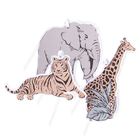 SERENGETI GIFT TAG MULTI PACK OF 6