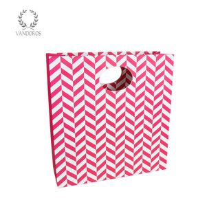 CHEVRON MATTE BAG RASPBERRY LARGE (D) - 315mmX330mmX110mm