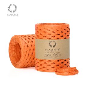 FSC PAPER RAFFIA ORANGE 4mmX100M