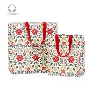 POINSETTIA GIFT BAG RED SMALL (B) W200 X H250 X G120mm