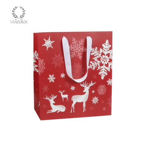 WOODLAND CHRISTMAS BAG RED/WHITE