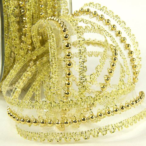 DW-6641-GD GOLD/GOLD BEADS/MESH