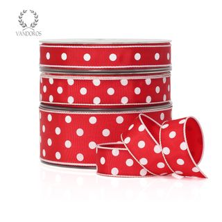 LADYBIRD RED/WHITE DOTS 15mmX25M
