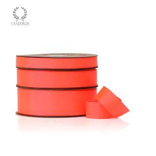 HOT GROSGRAIN NEON RED 25mmX50M