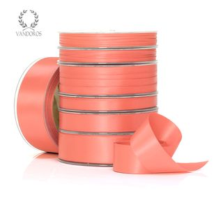 DOUBLE SATIN CORAL 25mmX25M