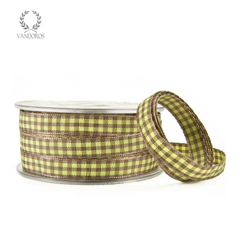 EMILY GINGHAM CHARTREUSE/LATTE