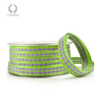 EMILY GINGHAM LILAC/LIME 10mmX50M