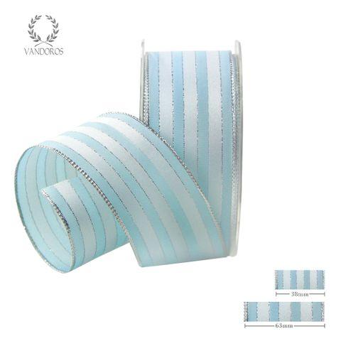 ROYAL TAFFETA WIDE STRIPE LIGHT BLUE/WHITE