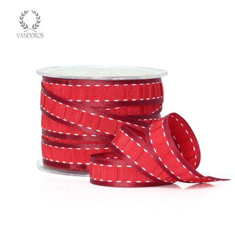 AF757-C001 ANNIE RUCHE TAFFETA RED/WHITE
