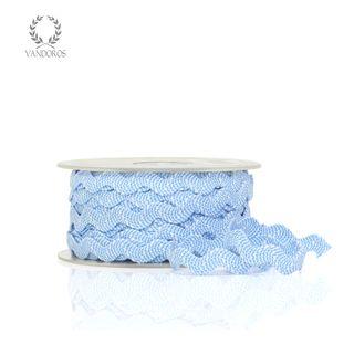 SPECKLED RIC-RAC BLUE/WHITE 7mmX20M