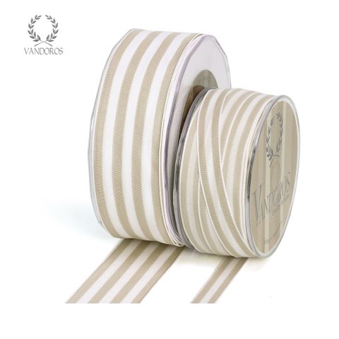 PROVENCE TAUPE/WHITE WIRE EDGE