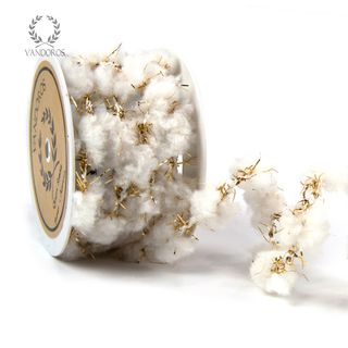SNOWBALL STRING WHITE/GOLD 10 METRES