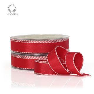 STEPHANIE RED/WHITE 20mmX25M